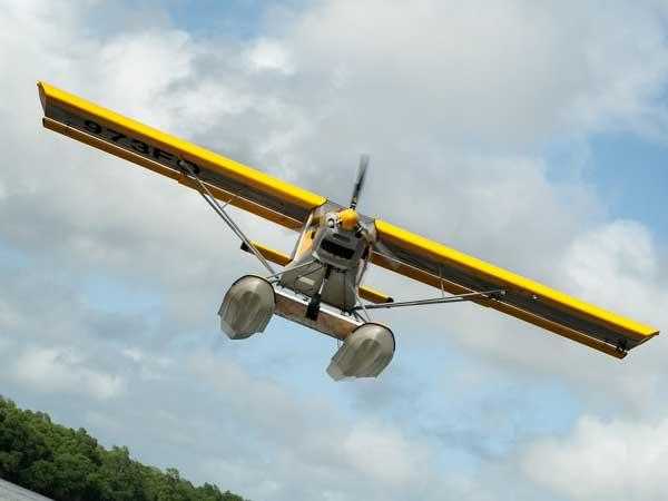 Travaux aériens en ULM Hydro - Les ailes hydro de Montsinéry