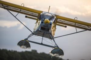 Vol avec les ailes hydro de Montsinéry