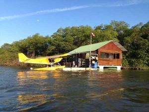 Accueil sur une Houseboat - Les ailes hydro de Montsinéry