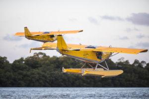 Vol en formation avec les ailes hydro de Montsinéry